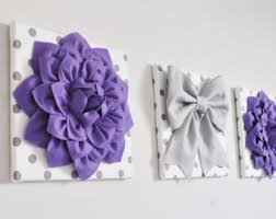 Purple Nursery Wall Decor Purple Wall Decor Etsy