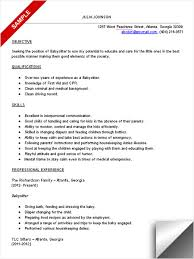 Sample Nanny Resume by Download Babysitter Resume Objective Haadyaooverbayresort Com