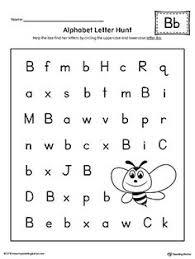 lowercase letter b styles worksheet kindergarten printable