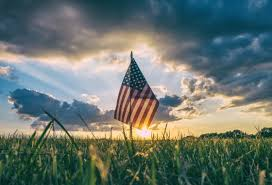 The America Flag Free Stock Photo Of Sunset Beyond The American Flag Celebrating