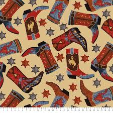 cowboy wrapping paper cowboy anti pill fleece fabric