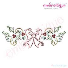 embroitique bow and border embroidery design