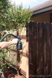 How To Build Backyard Fence The Fastest And Easiest Way To Stain A Wood Fence Ask Anna