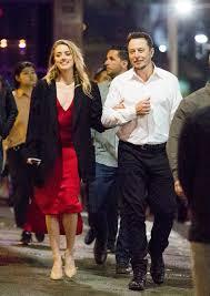 Heard Amber Heard Glows Shows Pda With Boyfriend Elon Musk On Romantic