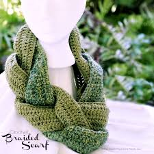 braided scarf crochet braided scarf grateful prayer thankful heart