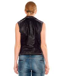 leather motorcycle vest studded leather motorcycle vests online for women at leatherright