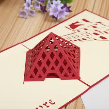 gift card manufacturers direct manufacturers 3d stereo creative building paper hollow diy
