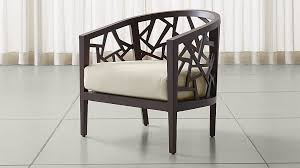 Crate And Barrel Bar Stool Ankara Truffle Frame Chair With Fabric Cushion Crate And Barrel