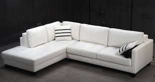 Leather Sofa Chaise Lounge by Modern White Leather Couch Nyfarms Info