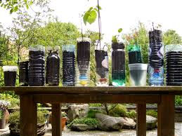 diy recycled bottles pots and trays for organic container