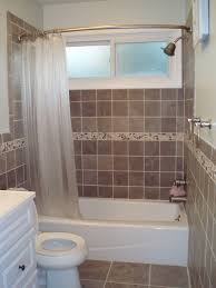 Small Bathroom Shower Curtain Ideas Small Bathroom Design With White Acrylic Low Bathtub And White