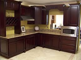 kitchen color schemes with dark oak cabinets ideas and black