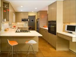 kitchen tv ideas kitchen modern oak cabinets cork floor flush white counters