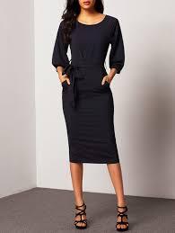 sleeve dress puff sleeve dress with belt shein sheinside