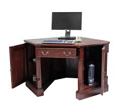 Morgan Corner Computer Desk by Furniture Natural Brown Wooden Corner Computer Desks For