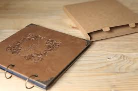 Leather Wedding Guest Book 50 Pages Wedding Guest Book Kraft Scrapbook Album Photo