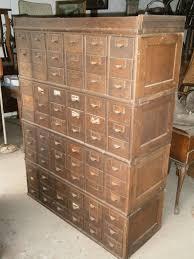 antique vintage oak library card catalog file cabinet 72 drawer