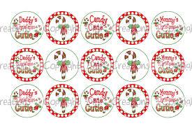 candy cane cutie christmas bottle cap images 4x6 printable