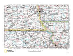 Nebraska Usa Map by Big Blue River Big Nemaha River Drainage Divide Area Landform