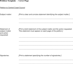 petition template template free download speedy template