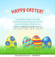 Easter Egg Decorating Poster by Easter Eggs Easter Holidays Design Happy Stock Vector 609592505