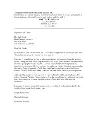 cover letter for financial advisor spectacular design cover