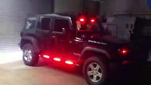 police jeep wrangler hg2 emergency lighting jeep wrangler youtube