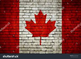 Candaian Flag Canadian Flag On Brick Wall Canadian Stock Illustration 439972648