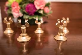 brass table number holders decor set of 12 gold table number holders 2527206 weddbook