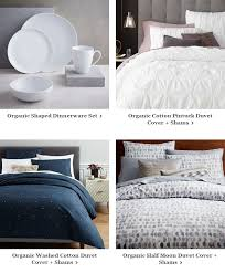 Organic Cotton Pintuck Duvet Cover Shams West Elm Back Again Premier Event Free Shipping Now