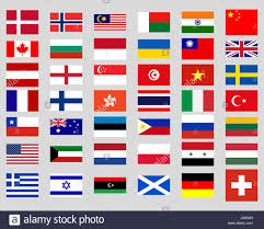 Flag Of The World Collection Of Flags Of The World Stock Vector Art U0026 Illustration