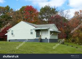 One Story Home by Simple One Story Home Awnings Autumn Stock Photo 116001433