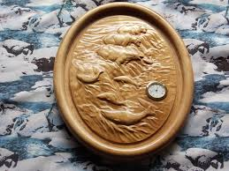 wood carving wall for sale wood carving for sale decor wall clock polar