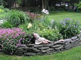 Rock Garden Beds Rock Border Landscaping Garden Bed Edging Ideas 2 Border