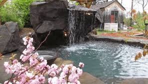 Waterfall In Backyard Custom Pool Waterfalls Water Features Ponds U0026 Backyard