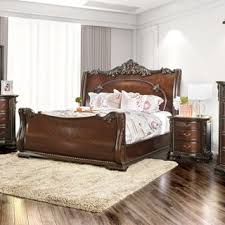Cherry Sleigh Bed King Size Cherry Finish Beds Shop The Best Deals For Dec 2017