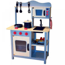 wooden kids toy pretend kitchen playset childrens role play cooker