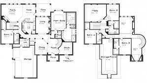 fascinating 5 bedroom house floor plans 2 story modern for lrg
