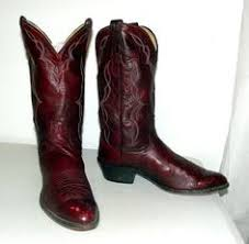 womens boots size 12 wide vintage eagle cowboy boots burgundy wine by honeyblossomstudio