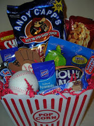 Baseball Gift Basket Baseball Themed Gift Basket Jpg From Baskets By Consuela In