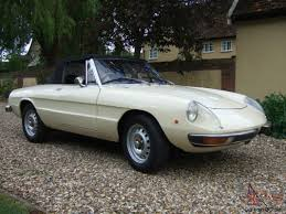 beige alfa romeo spider s2 lovely condition long mot