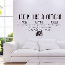 life is like a camera photography quote home uk wall sticker photography quote home uk wall sticker