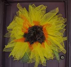 burlap sunflower wreath sunflower deco mesh and burlap wreath aftcra