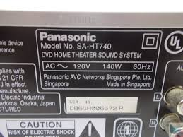 panasonic receivers home theater panasonic sa ht740 home theater sound system 5 disc dvd changer
