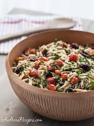 pasta salad recipes cold mediterranean orzo salad recipe andrea meyers