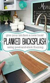 Remodelaholic DIY Plank Backsplash Using Peel And Stick Vinyl - Peel and stick wall tile backsplash