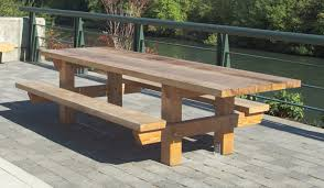 Plans For A Wood Picnic Table by Timberform Site Furnishings