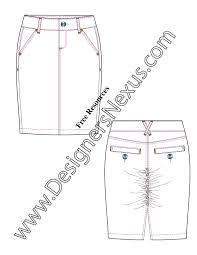 free downloads illustrator skirt flat sketches