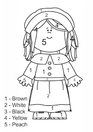 thanksgiving coloring pages number learn language
