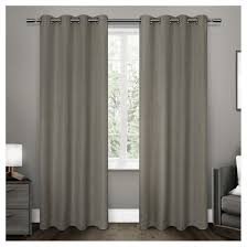 Melrose Home Decor Melrose Woven Blackout Grommet Top Window Curtain Panel Pair